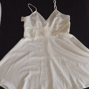 White Spaghetti strap dress